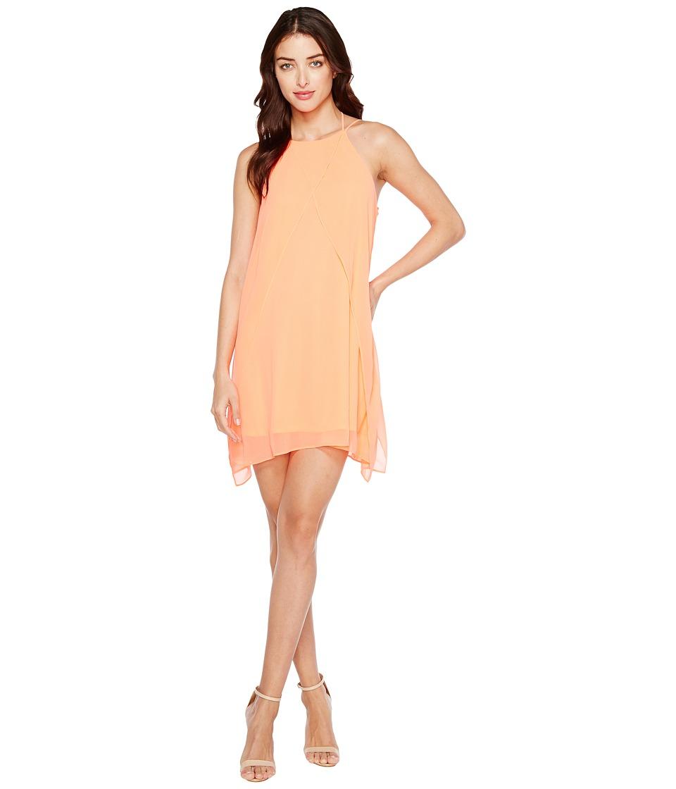 Brigitte Bailey - Cyndel Spaghetti Strap Ruffle Dress (Neon Coral) Women's Dress