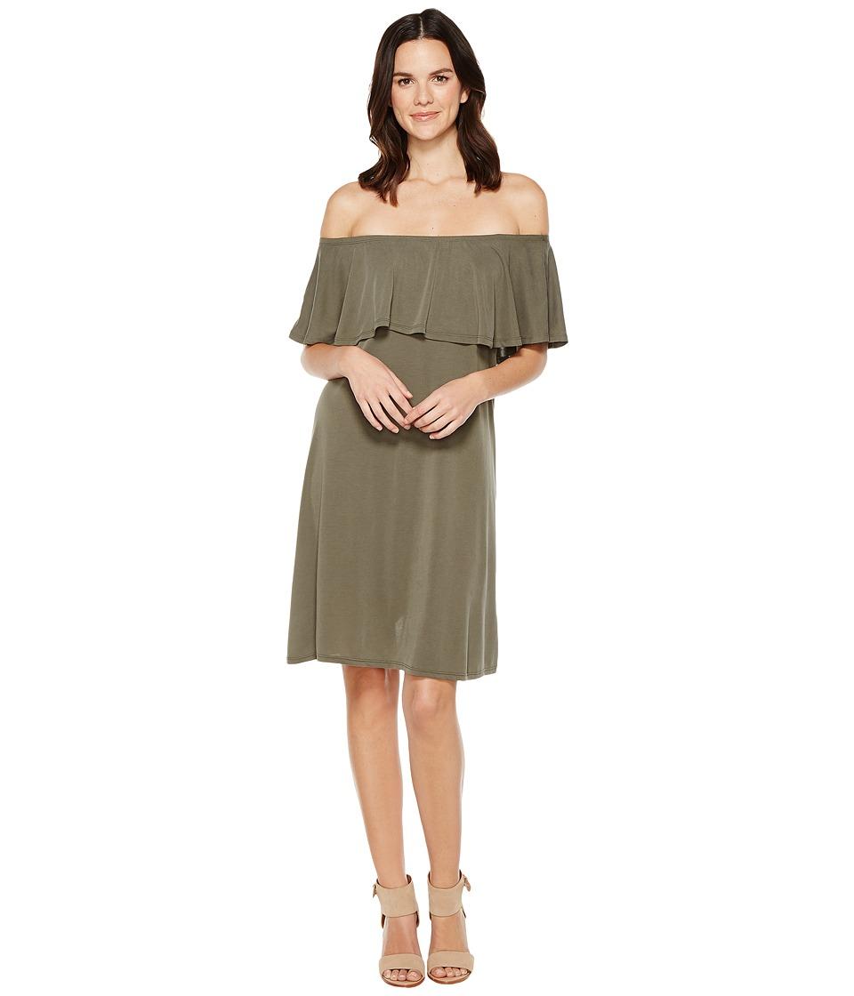 Brigitte Bailey Ayaka Off the Shoulder Dress (Olive) Women
