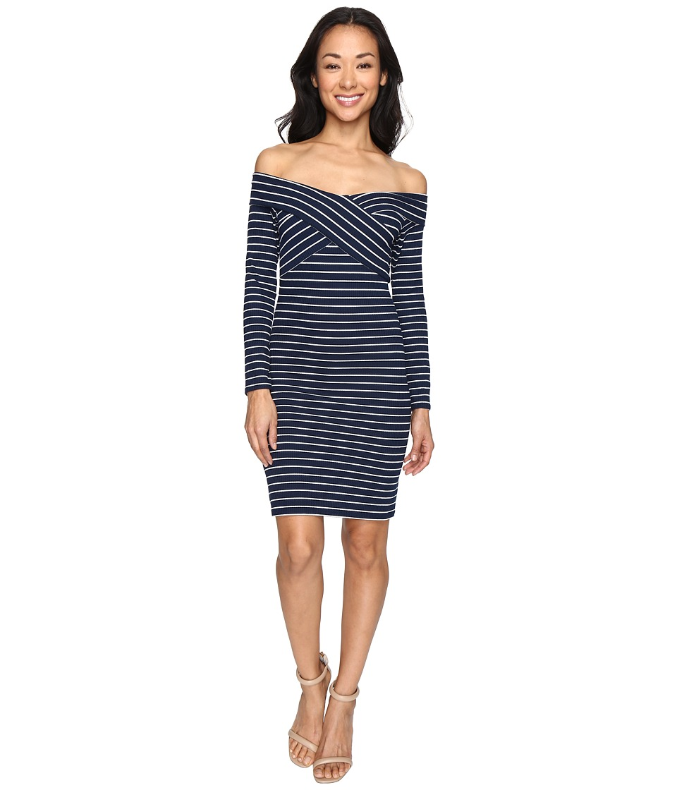 Brigitte Bailey - Suri Off the Shoulder Dress (Navy) Women's Dress