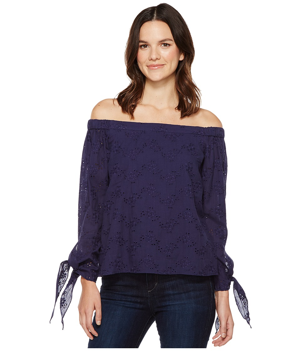 Brigitte Bailey - Kalene Off the Shoulder Top (Navy) Women's Clothing