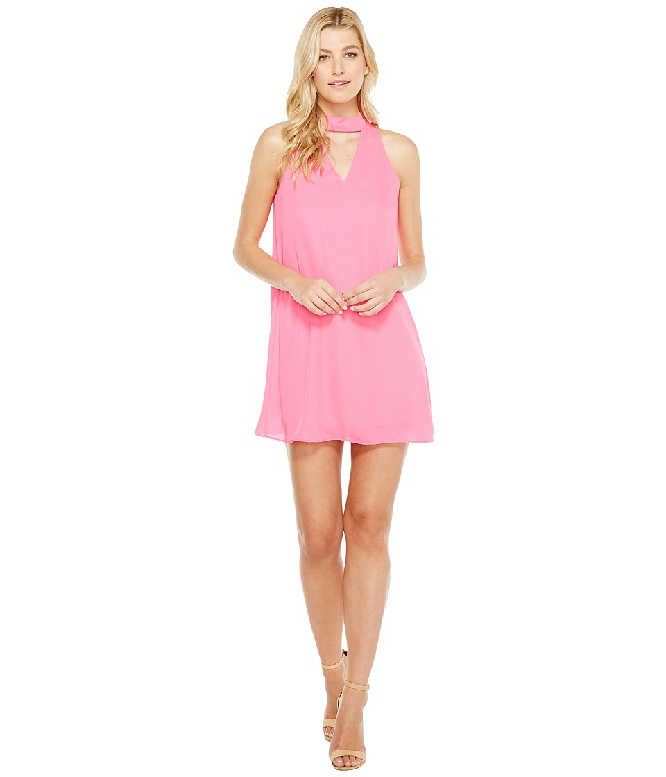 Brigitte Bailey - Kerianne Sleeveless Keyhole Dress (Neon Pink) Women's Dress