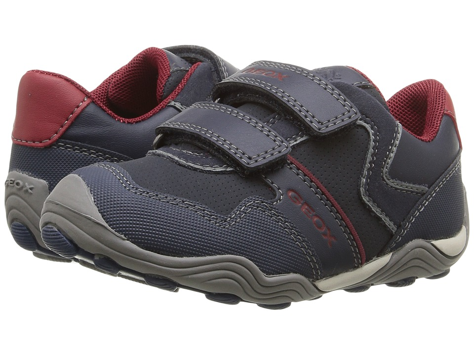 Geox Kids - Jr Arno 13 (Toddler/Little Kid) (Navy/Dark Red) Boys Shoes
