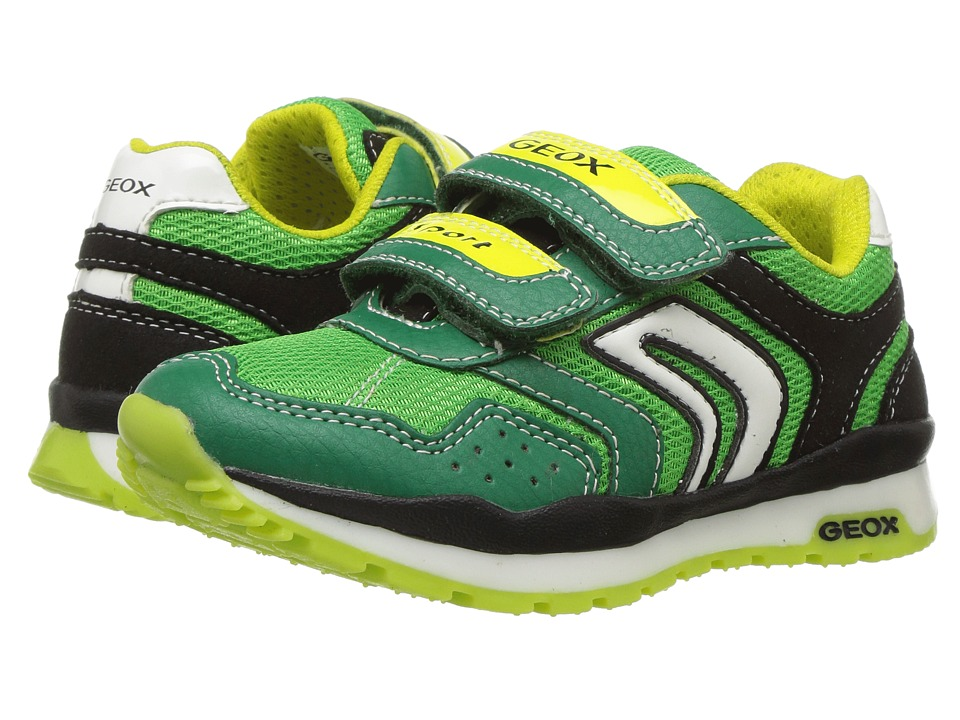 Geox Kids - Jr Pavel Boy 16 (Toddler/Little Kid) (Green/Lime) Boy's Shoes