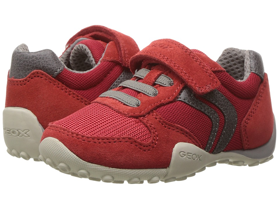 Geox Kids - Jr Snake Boy 64 (Toddler/Little Kid) (Red/Grey) Boy's Shoes