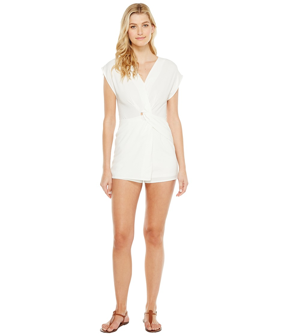 Brigitte Bailey - Camari Twist Front Romper (White) Women's Jumpsuit & Rompers One Piece