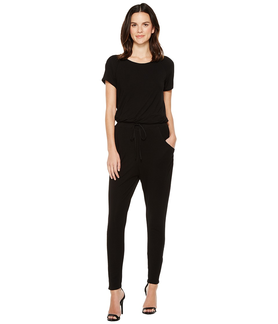 Brigitte Bailey - Suki Short Sleeve Jumper (Black) Women's Jumpsuit & Rompers One Piece