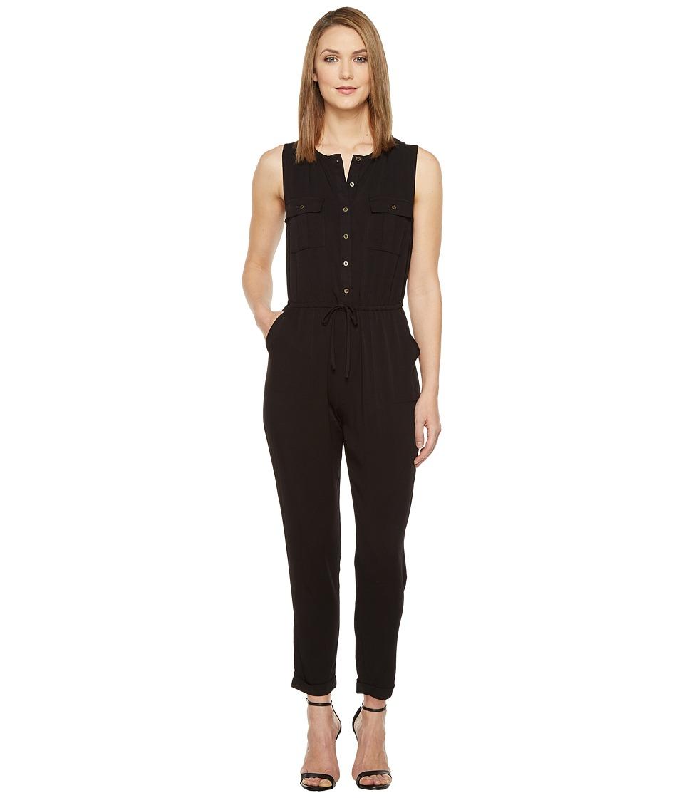 Brigitte Bailey - Ashton Sleeveless Button Up Jumpsuit (Black) Women's Jumpsuit & Rompers One Piece