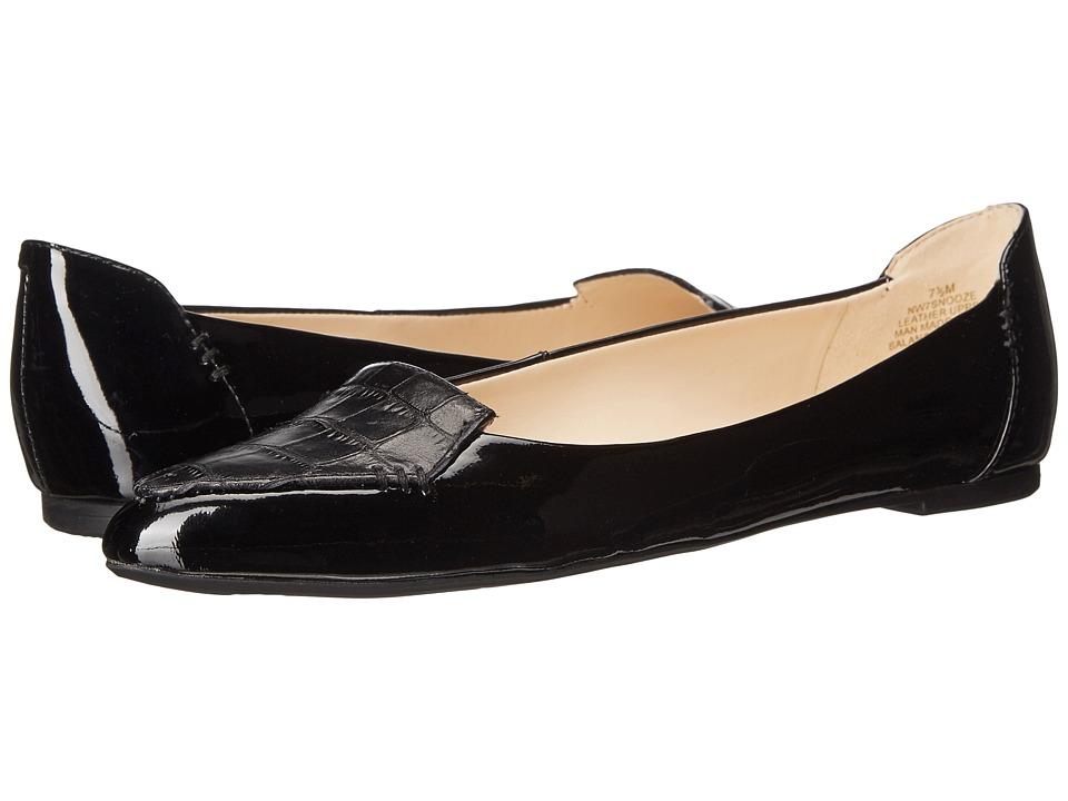 Nine West - Snooze (Black/Black Patent) Women's Shoes