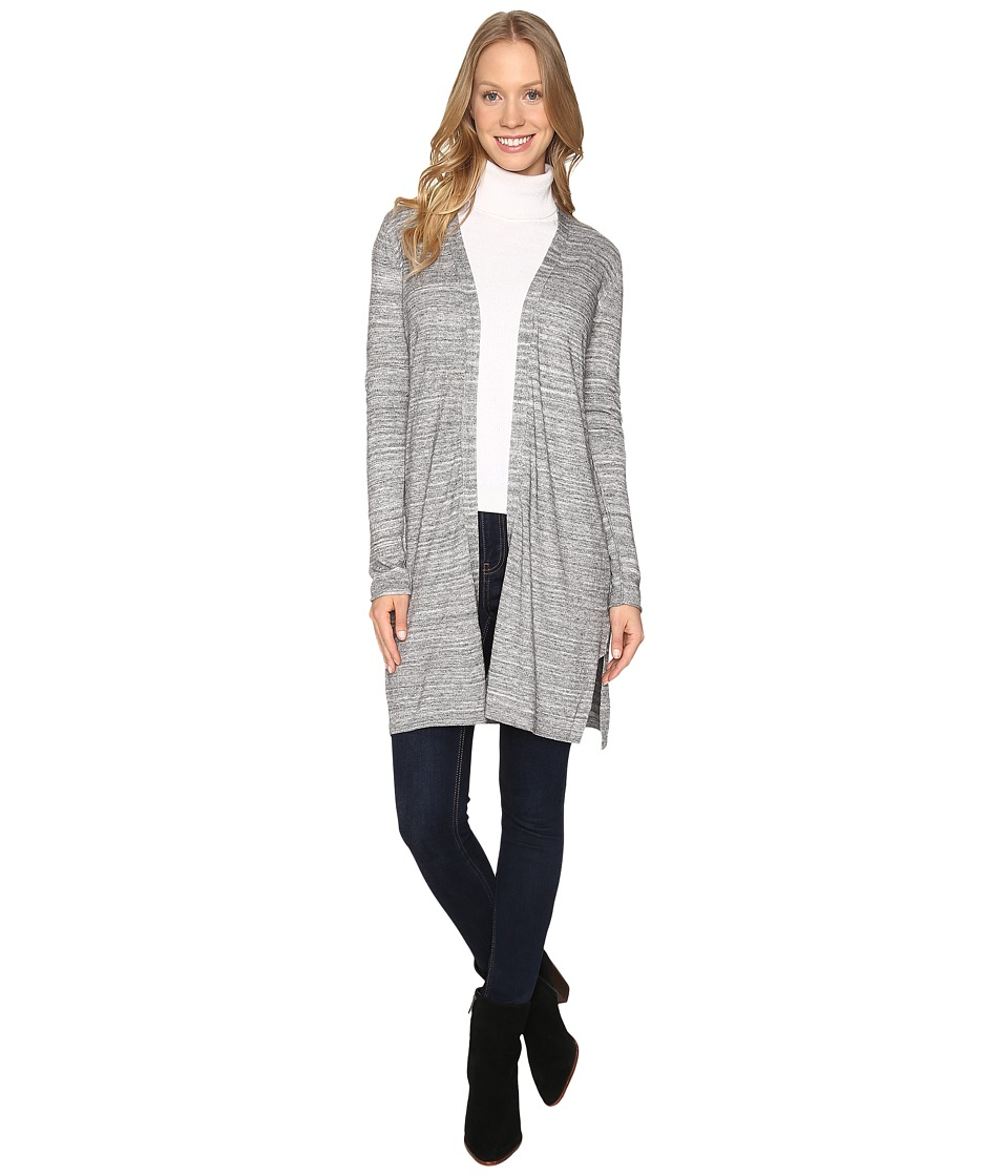 Calvin Klein - Long Sleeve Duster Sweater (Heather Granite) Women's Sweater