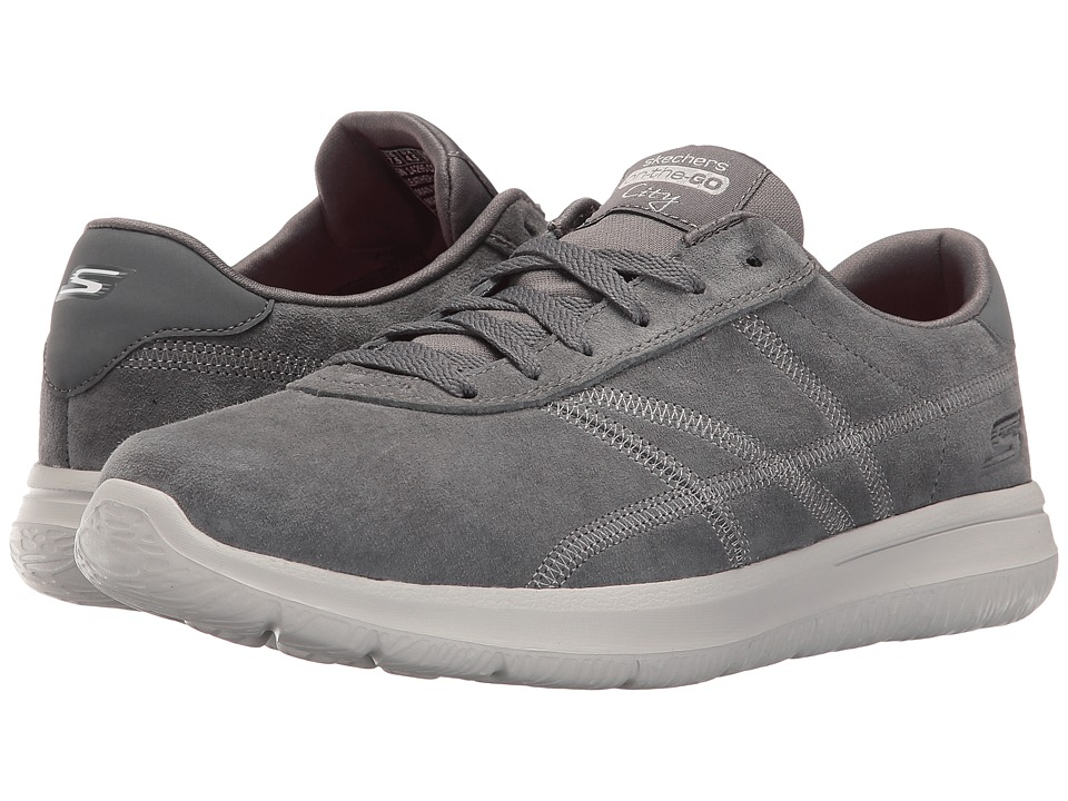 SKECHERS Performance - On The Go - City Posh (Gray) Women's Shoes