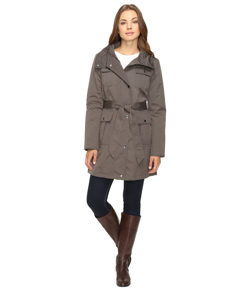 Ellen Tracy - Techno Trench Jacket (Olive) Women's Coat
