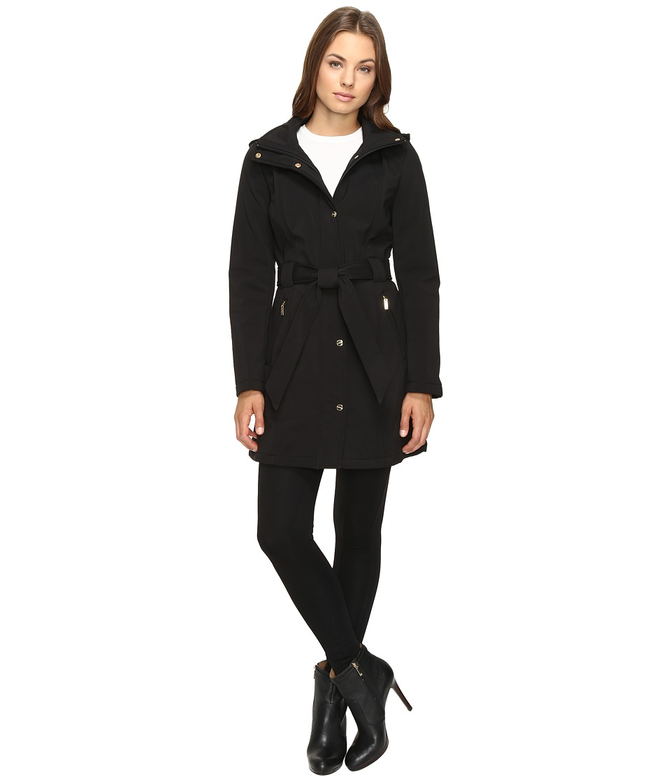 Ellen Tracy - Softshell Trench Jacket (Black) Women's Coat