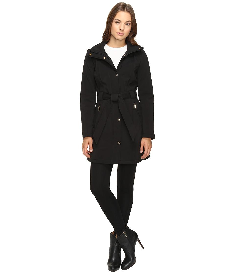 Ellen Tracy - Softshell Trench Jacket (Black) Women's Coat