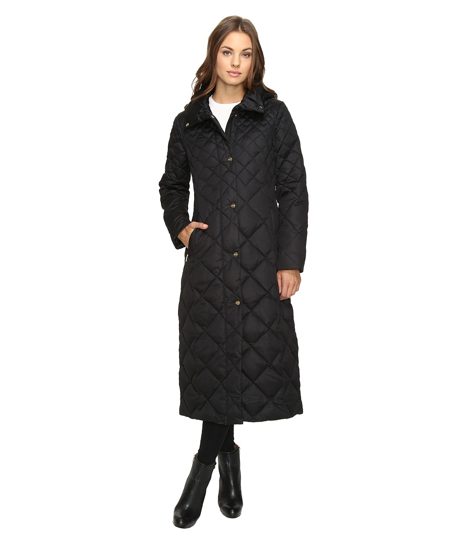 Ellen Tracy - Matte Satin Diamond Quilted Jacket (Black) Women's Coat