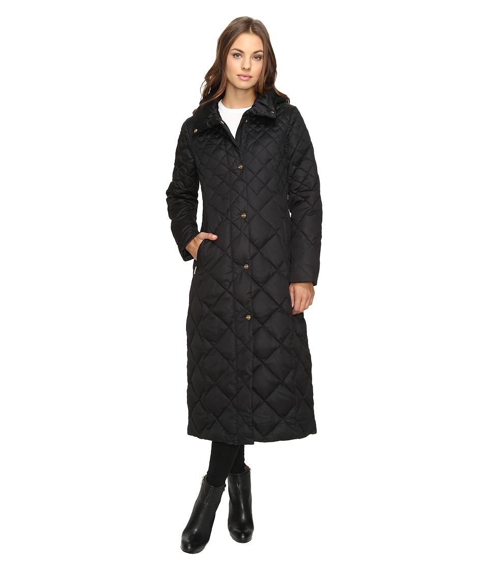 Ellen Tracy Matte Satin Diamond Quilted Jacket (Black) Women