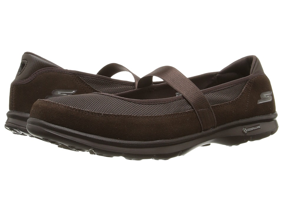 SKECHERS Performance - Go Step - Snap (Chocolate) Women's Shoes
