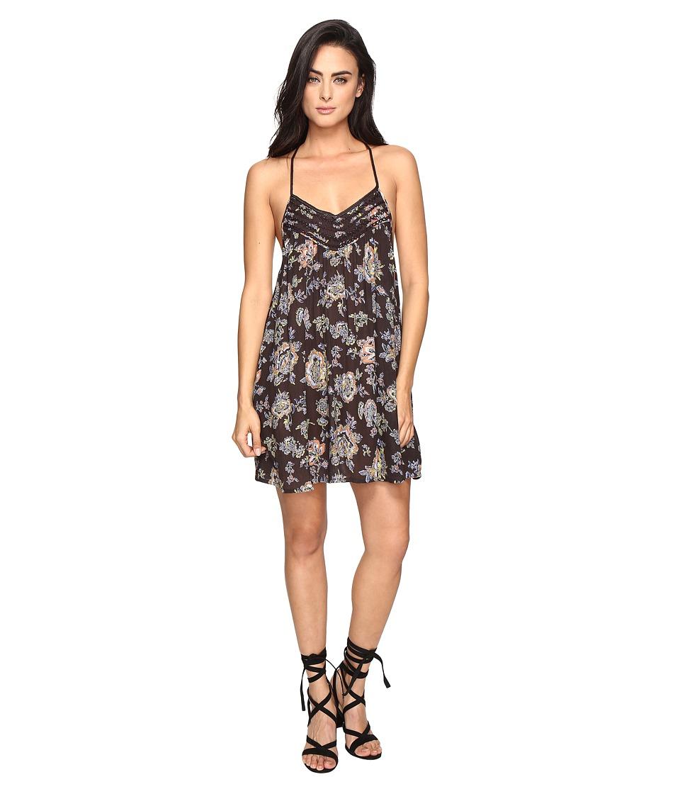 Brigitte Bailey - Zanna Spaghetti Strap Printed Dress (Charcoal) Women's Dress