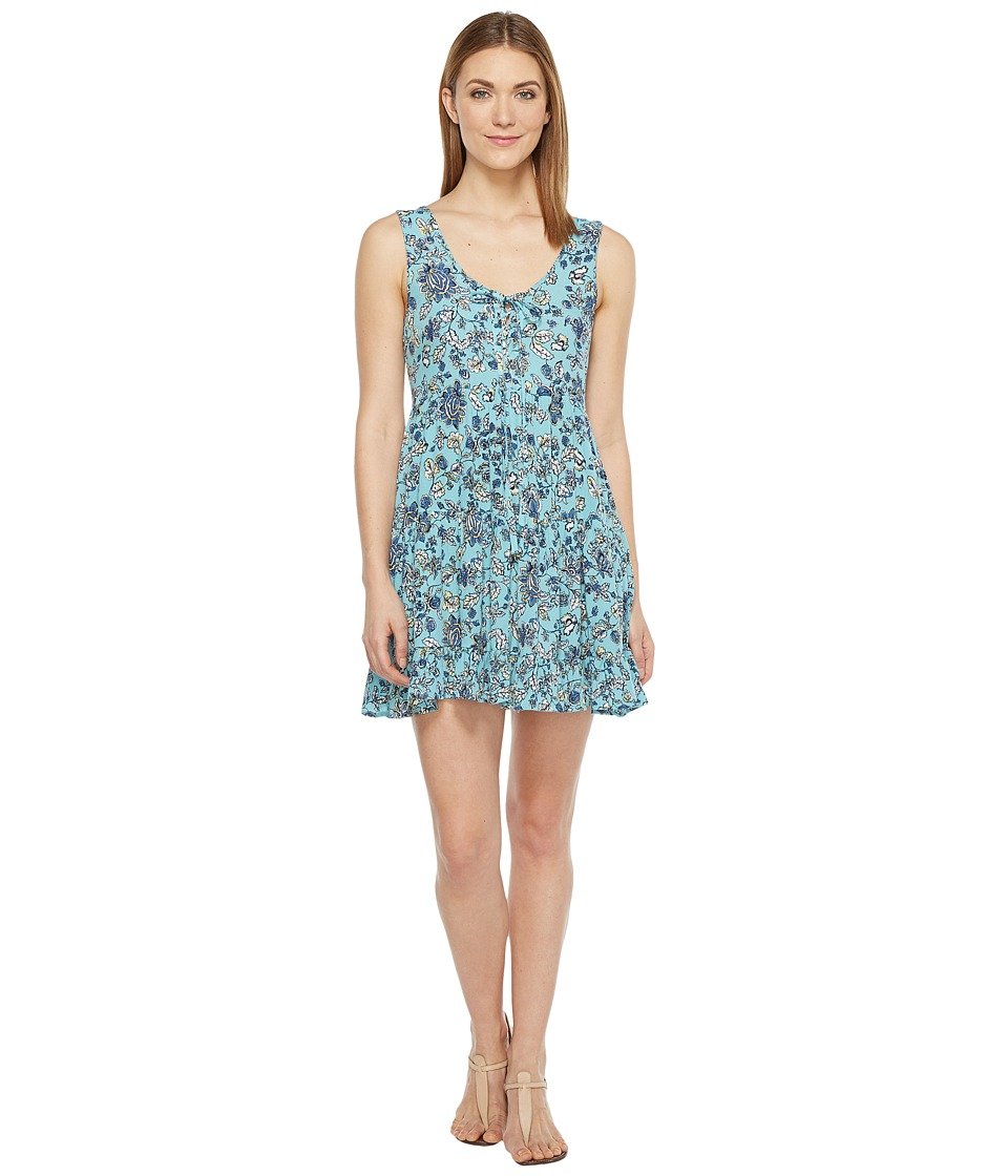 Brigitte Bailey - Bardot Sleeveless Tie-Front Dress (Blue) Women's Dress