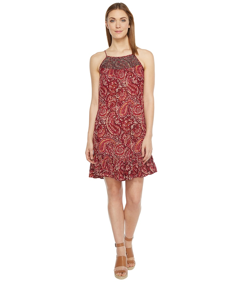 Brigitte Bailey - Java Spaghetti Strap Dress with Beading (Burgundy) Women's Dress