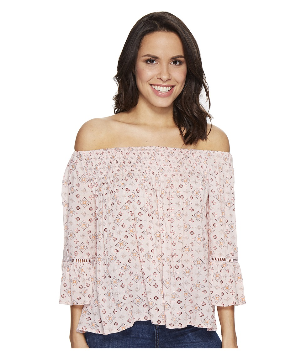 Brigitte Bailey - Mae Off the Shoulder Top with Lace Inset (Pink) Women's Clothing