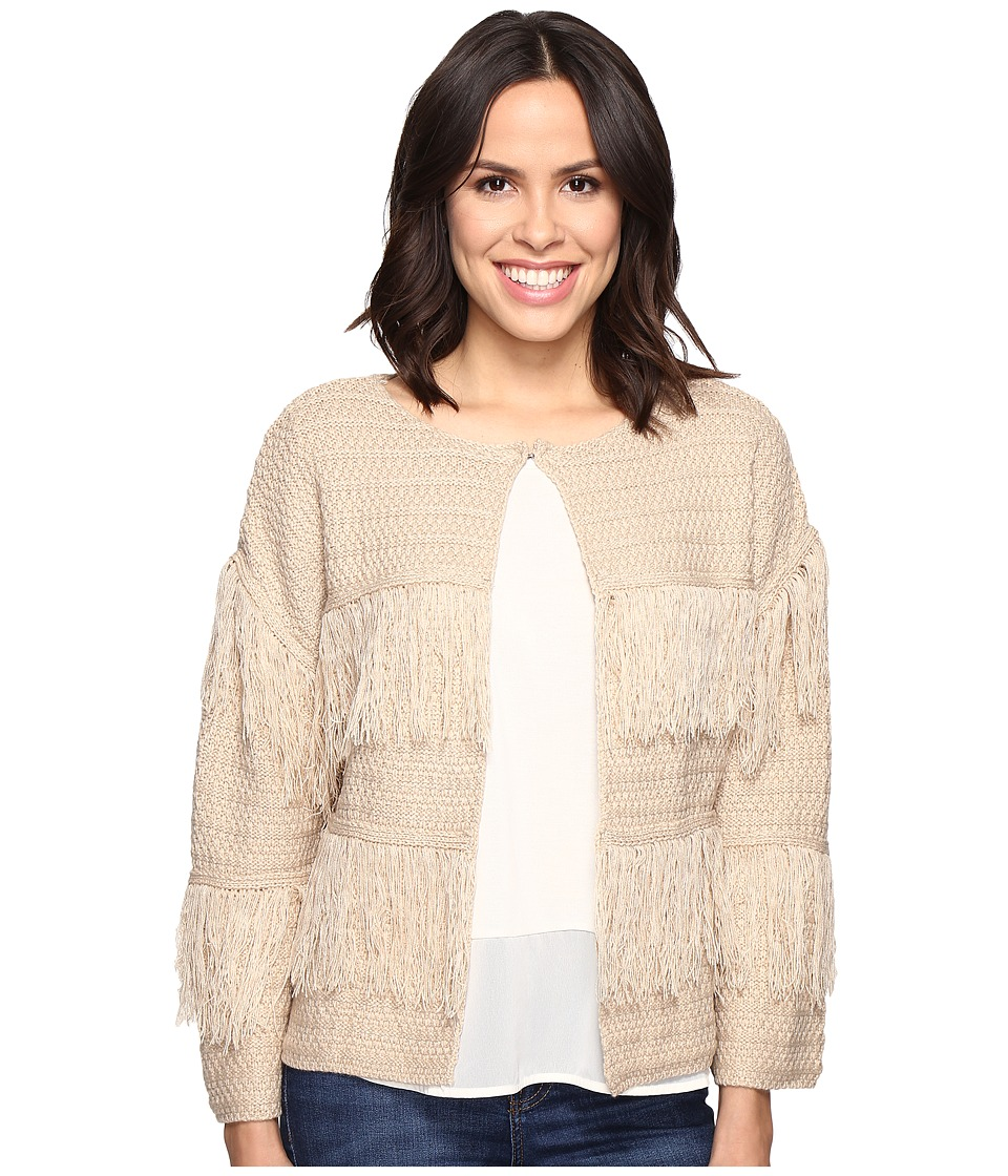 Brigitte Bailey - Bryn Sweater with Fringe Detail (Cream) Women's Sweater