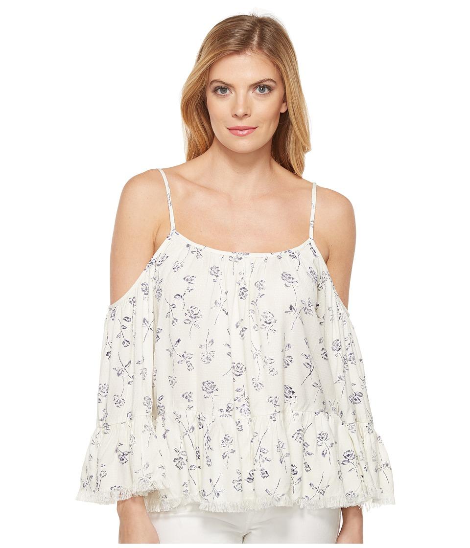 Brigitte Bailey - India Long Sleeve Cold Shoulder Top (Cream) Women's Clothing