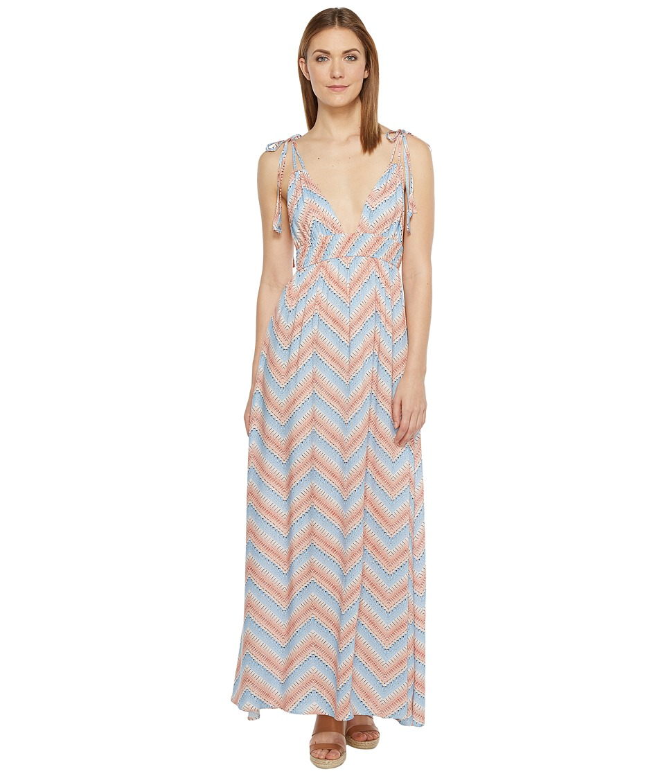 Brigitte Bailey - Colette Strappy V-Neck Maxi Dress (Pink/Blue) Women's Dress