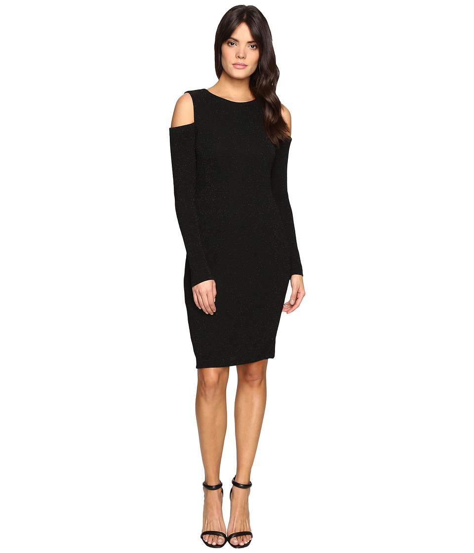 Calvin Klein - Long Sleeve Cold Shoulder Dress (Black) Women's Dress