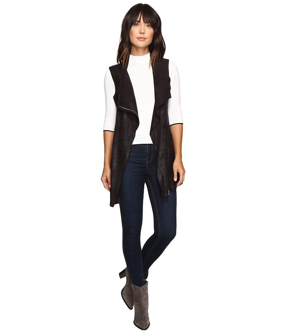 Calvin Klein Distressed Long Vest (Black) Women