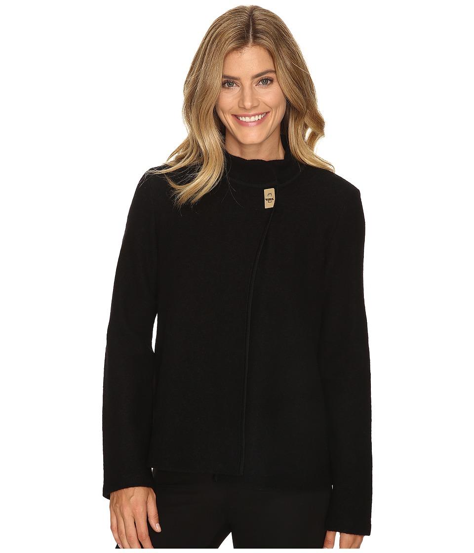 Calvin Klein - Boiled Wool Jacket (Black) Women's Coat