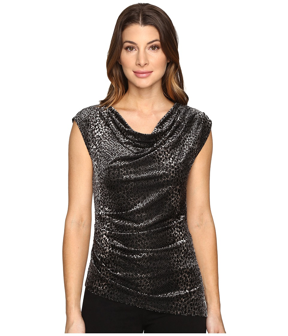 Calvin Klein - Animal Burnout Top (Black) Women's Sleeveless