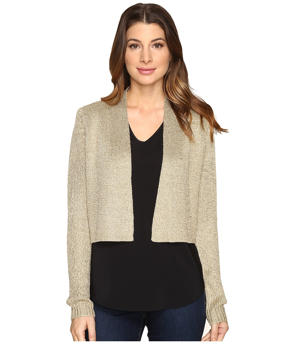 Calvin Klein - Lurex Shrug Long Sleeve Sweater (Gold) Women's Sweater