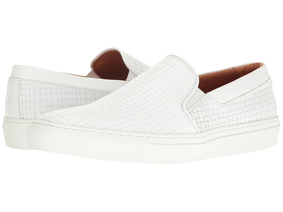 Aquatalia - Anderson (White Embossed Calf) Men's Slip on Shoes