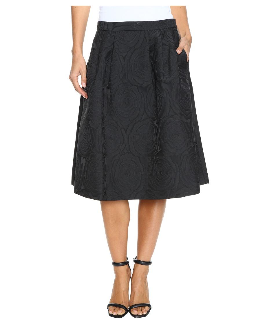 Calvin Klein - A-Line Jacquard Skirt (Black) Women's Skirt