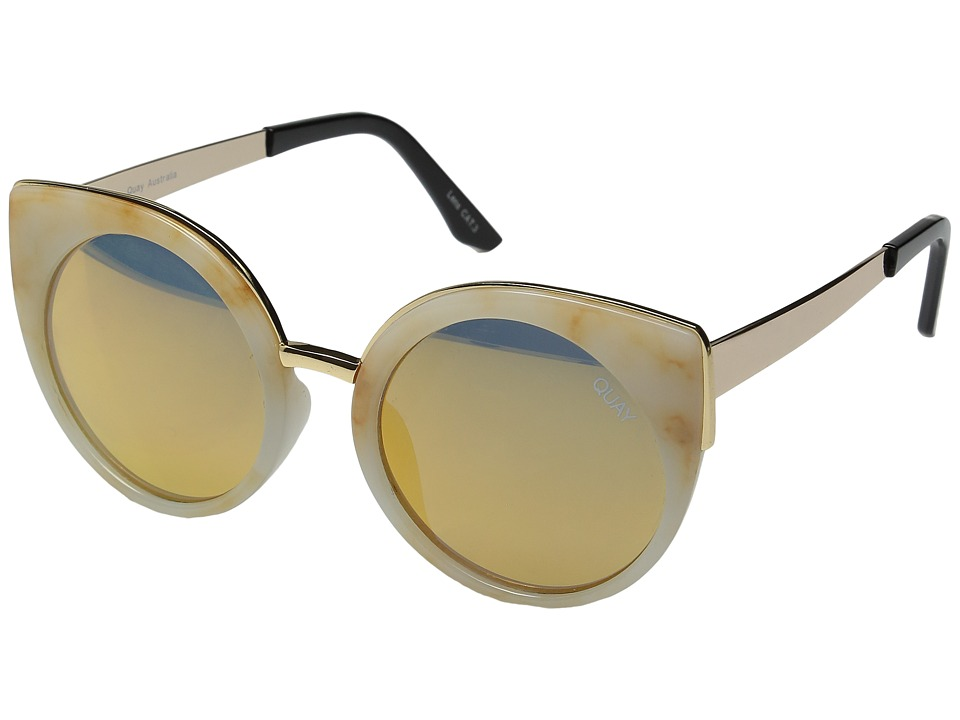 QUAY AUSTRALIA - Last Dance (White Marble/Gold) Fashion Sunglasses