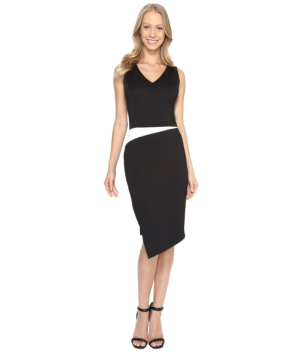 Calvin Klein - Sheath w/ Side Slit Dress (Black) Women's Dress