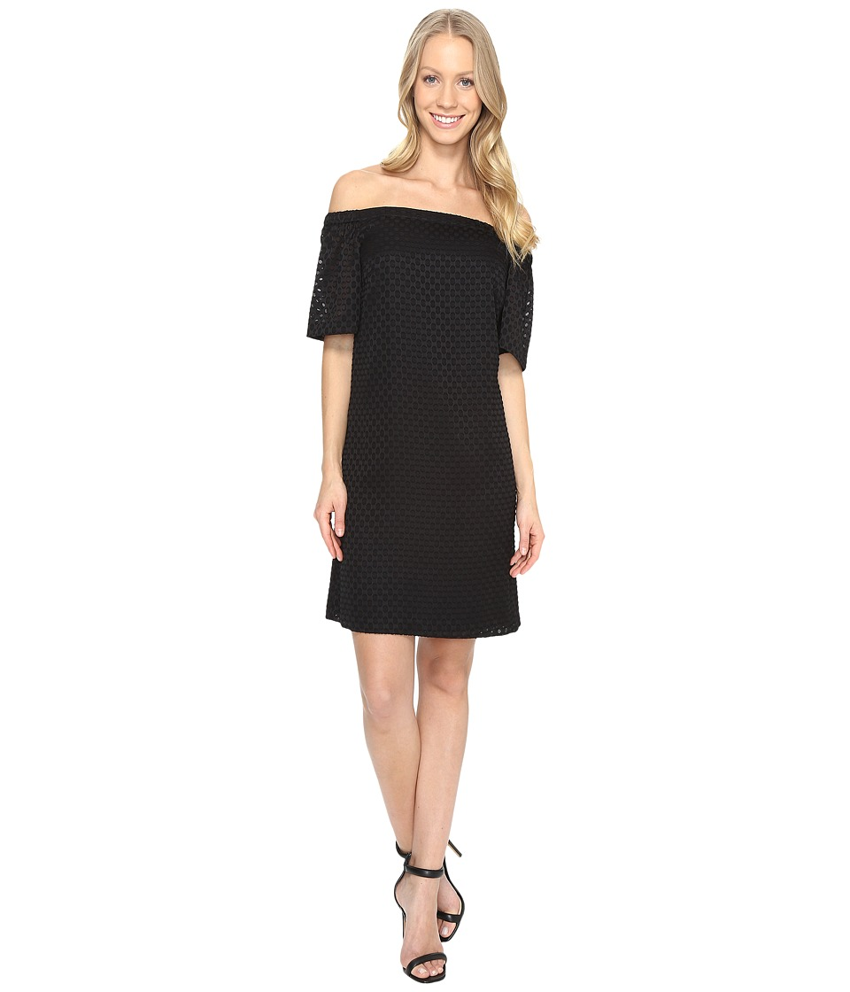 Calvin Klein - Off the Shoulder Dress (Black) Women's Dress