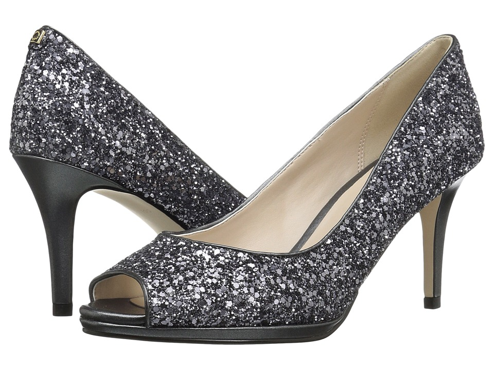 Cole Haan - Davis Open Toe Pump 75mm (Silver/Gunmetal Glitter PV Light) Women's Shoes
