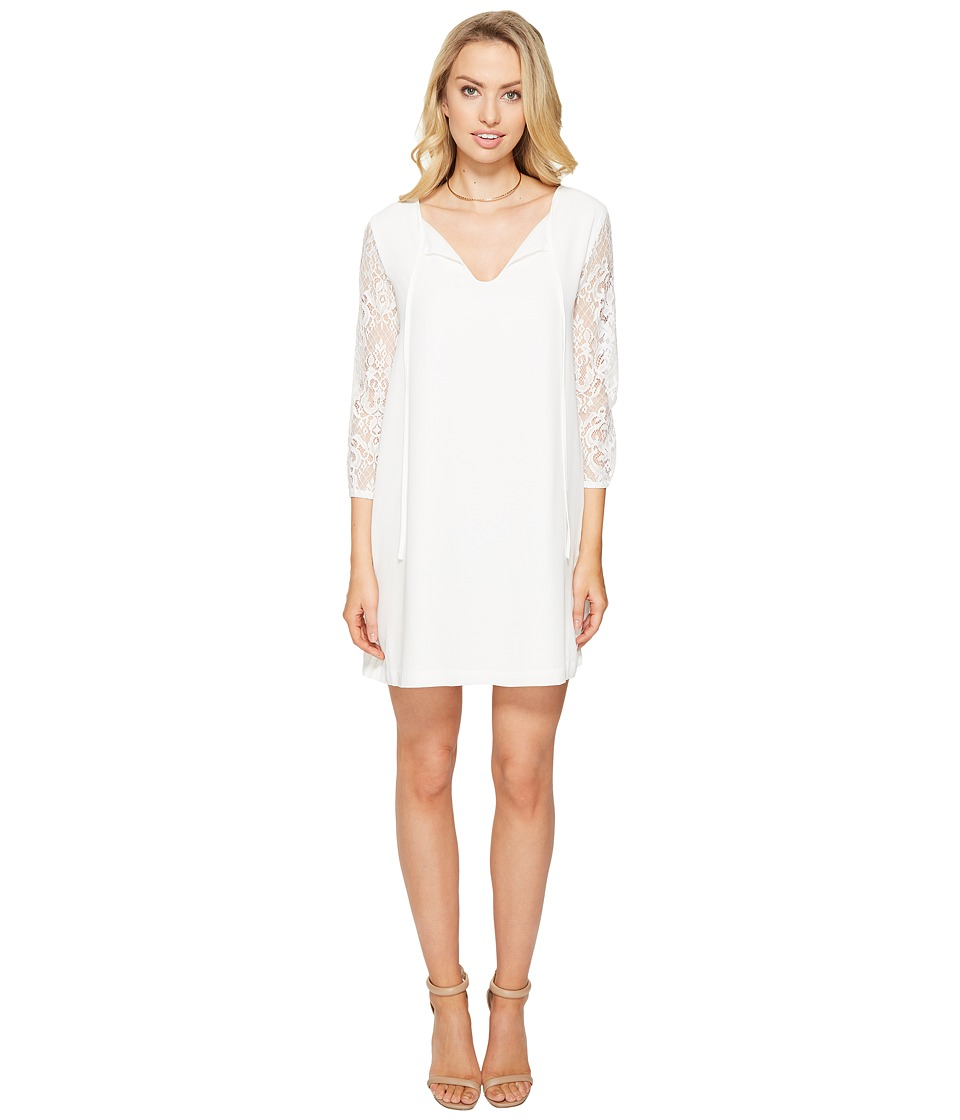 BB Dakota - Helene Lace Sleeve Shift Dress (Ivory) Women's Dress