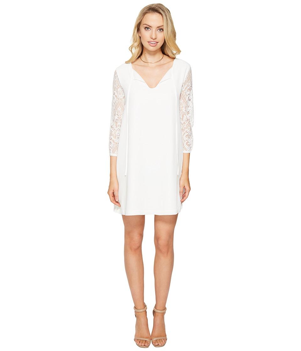 BB Dakota - Helene Lace Sleeve Shift Dress (Ivory) Women's Dress