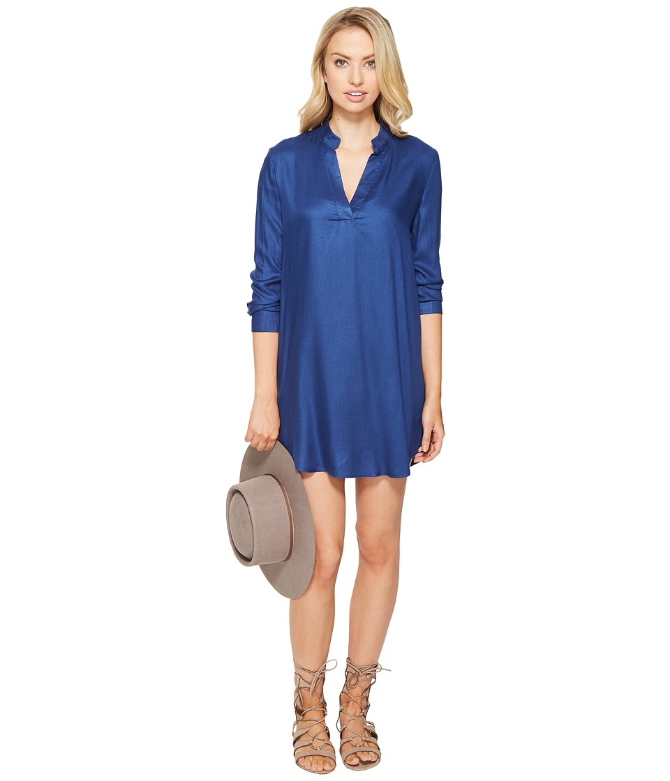 BB Dakota - Parley V-Neck Shirtdress (Indigo) Women's Dress