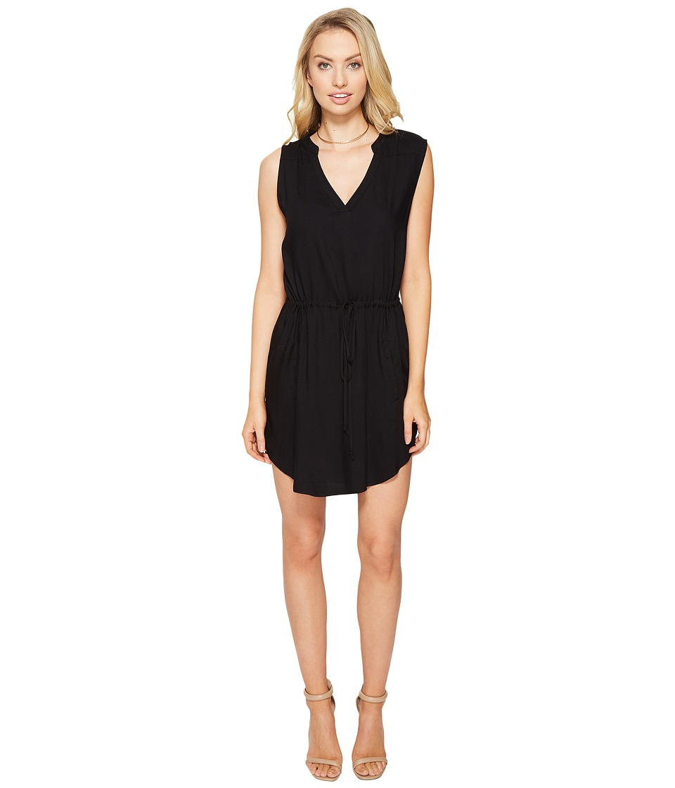 BB Dakota - Christensen V-Neck Dress (Black) Women's Dress