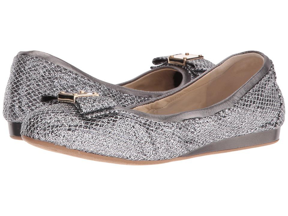Cole Haan - Tali Bow Ballet (Silver/Gunmetal Glitter) Women's Slip on Shoes