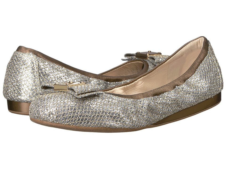 Cole Haan - Tali Bow Ballet (Gold/Silver Glitter) Women's Slip on Shoes