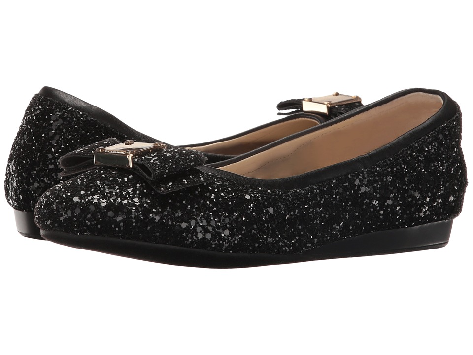 Cole Haan - Tali Bow Ballet (Black Glitter) Women's Slip on Shoes