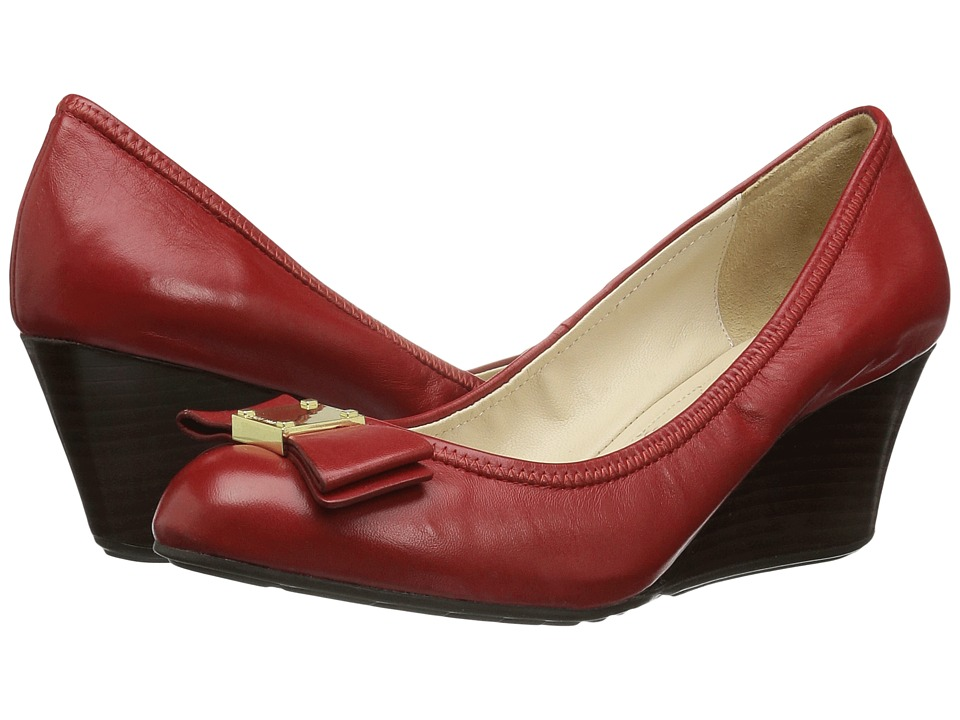 Cole Haan - Tali Grand Bow Wedge 65 (Tango Red Leather) Women's Wedge Shoes