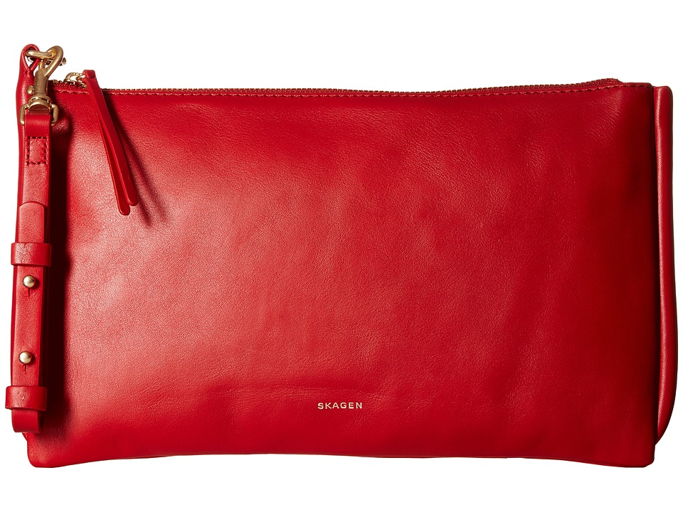 Skagen - Anesa Clutch (Red) Clutch Handbags