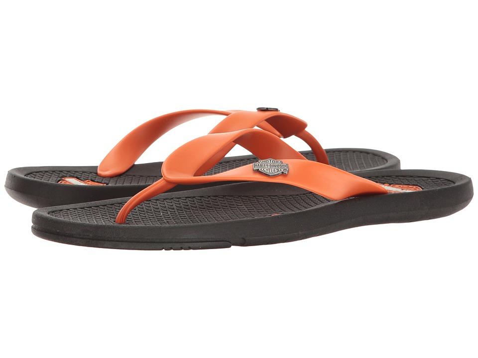 Harley-Davidson - Floripa (Black/Orange) Men's Sandals