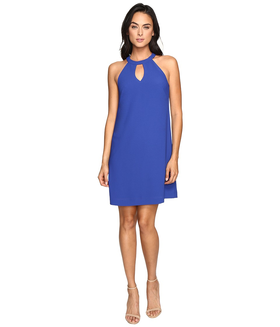 Nicole Miller Keyhole Dress (Blue) Women
