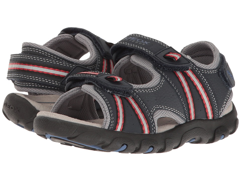 Geox Kids - Jr Sandal Strada (Little Kid/Big Kid) (Dark Navy/Red) Boys Shoes